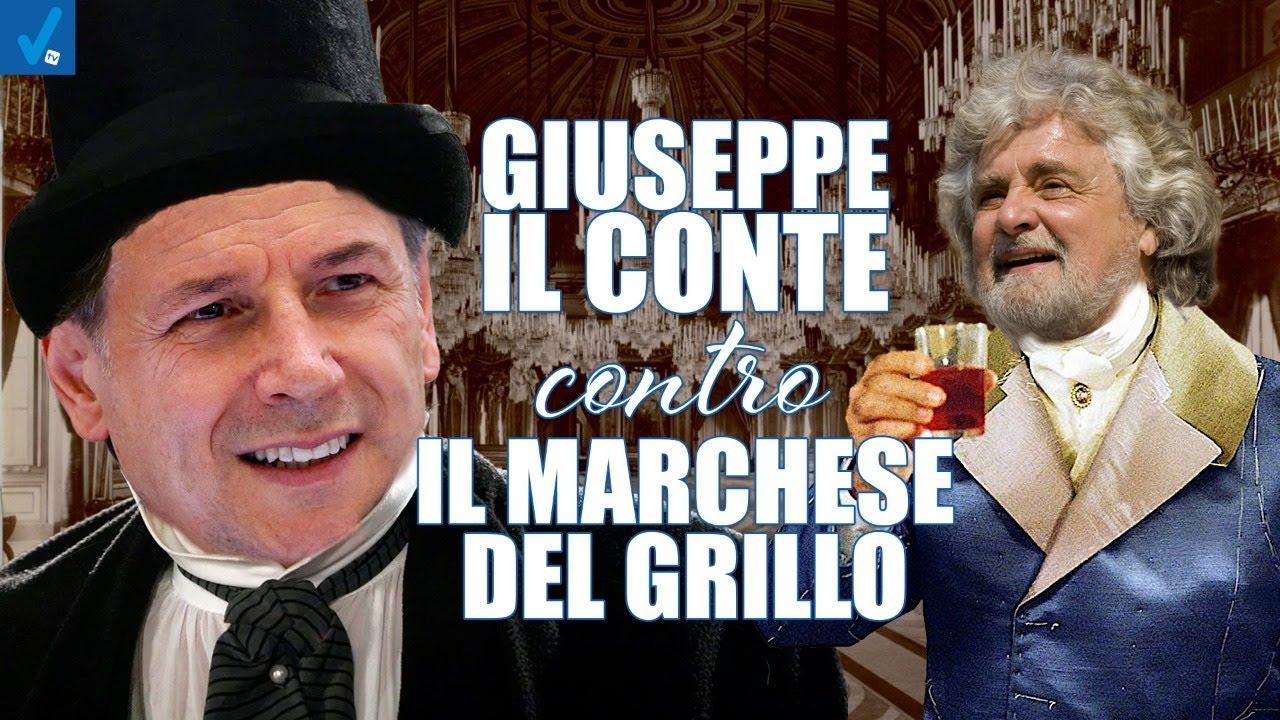 Giuseppe-il-Conte-contro-il-Marchese-del-Grillo-Dietro-il-Sipario-Talk-Show